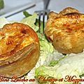 Mini quiche au chorizo et mozzarella