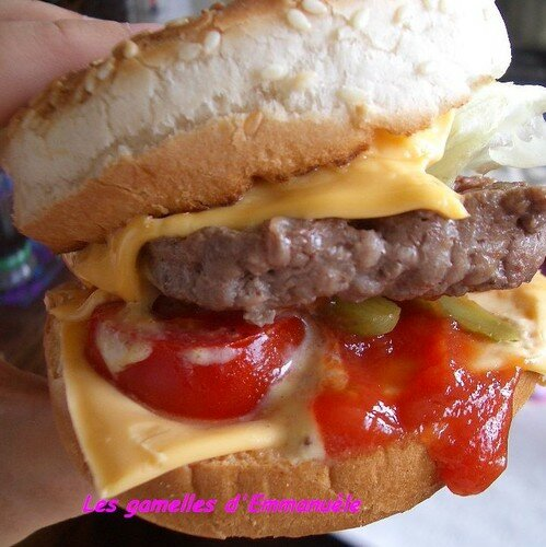 Cheese burger dégoulinant