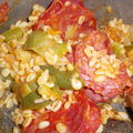 Blé au chorizo et aux légumes
