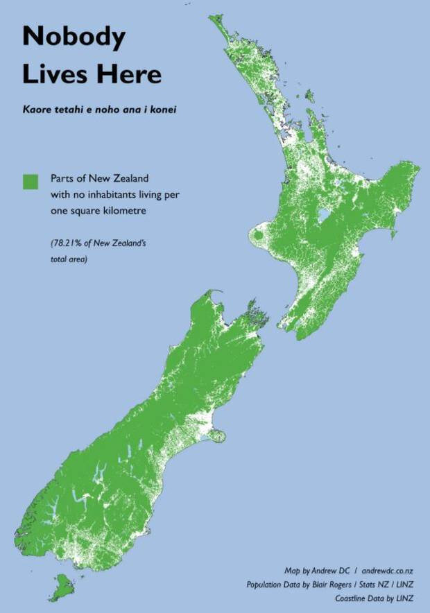Breakdown of how much unoccupied space exits in New Zealand