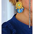 BO Alizette bleus clairs portées