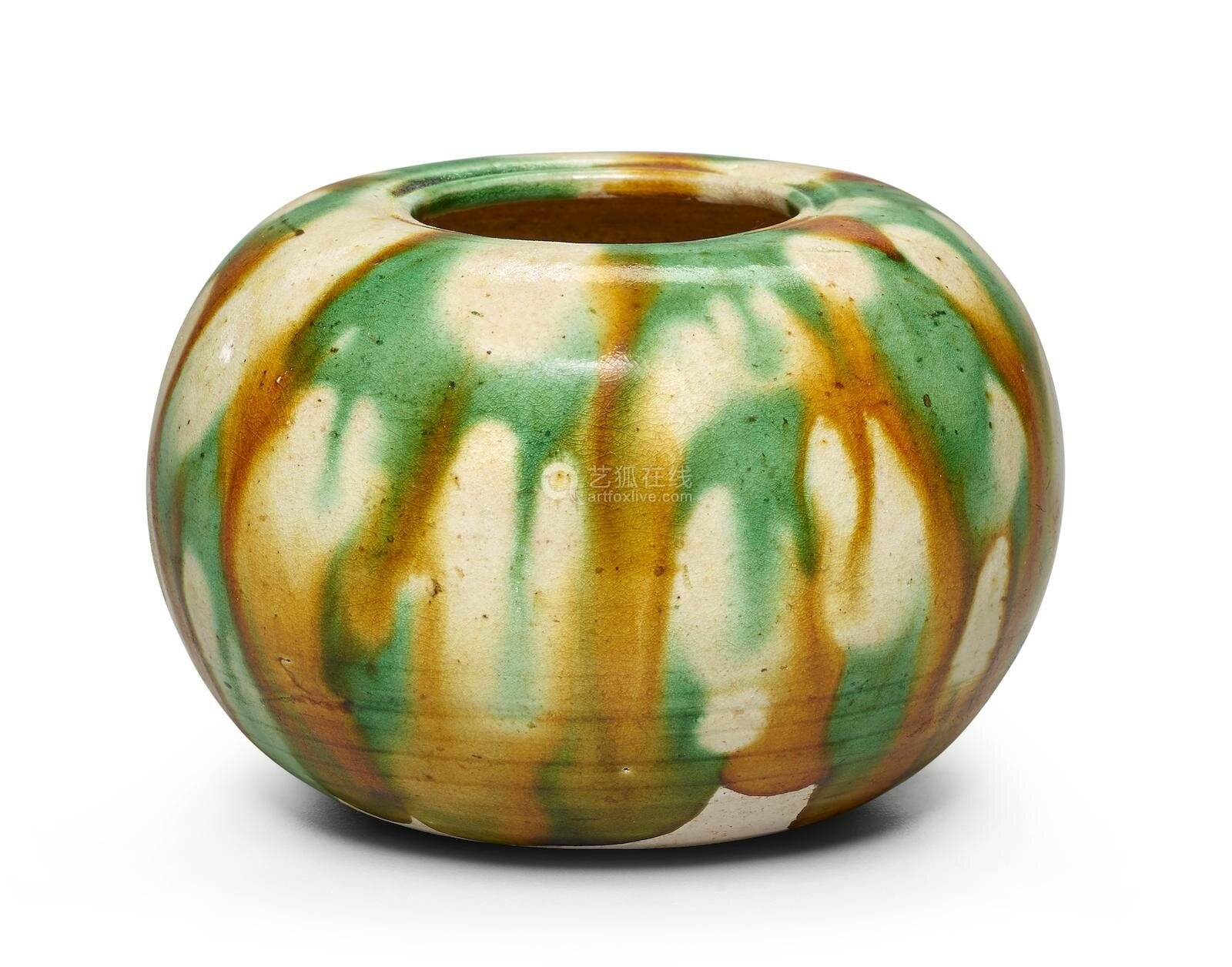 A small sancai-glazed waterpot, Tang dynasty (618-907)