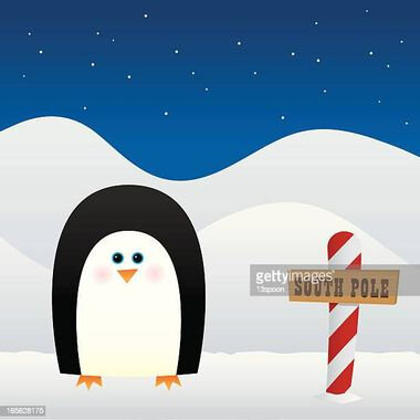penguin-at-the-south-pole-vector-id165628175