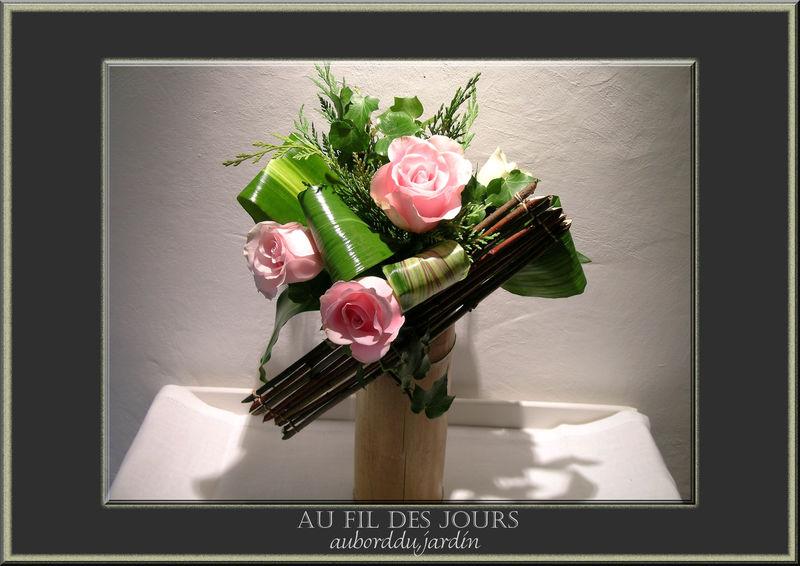 Roses et cornouiller