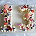 Number cake 13 & letter cake a