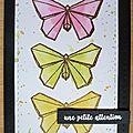 Carte 3 papillons ...