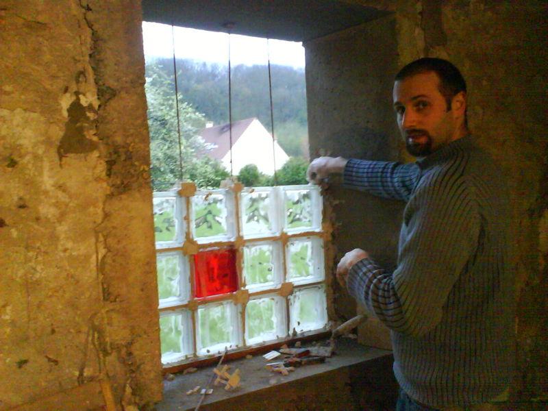 Cr ation portes et fen tre de la grange la maison - Pose brique de verre fenetre ...