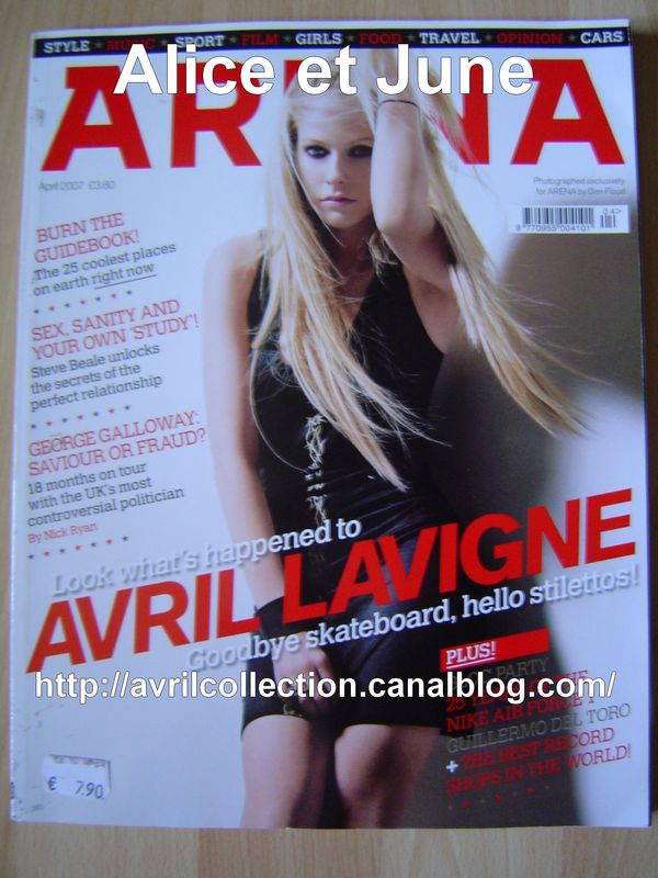 Arena Magazine - édition anglaise couverture n°2 (avril 2007)