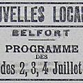 Fêtes du 2 au 4 juillet 1920 à belfort, les programmes (3e partie)