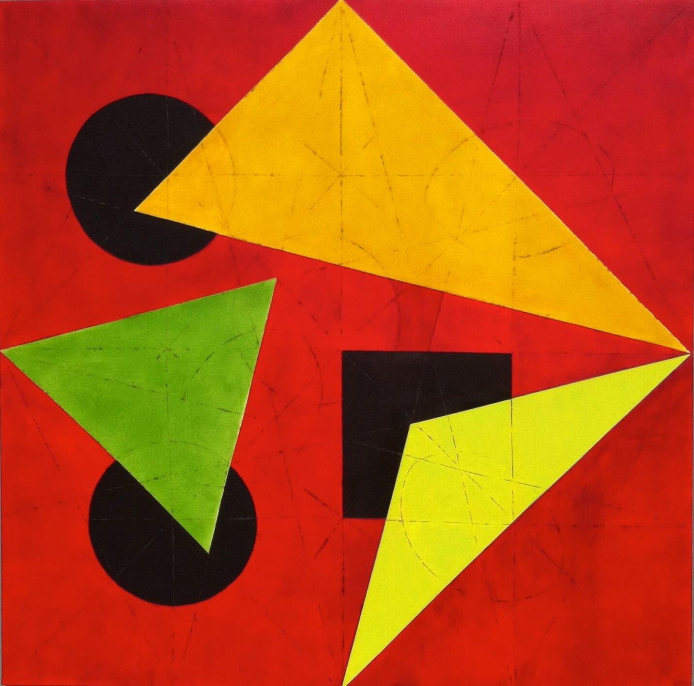 """Art conceptuel """"Ubik"""" toile 150X150 ---> le rayonnement cosmique de la pensée humaine."""
