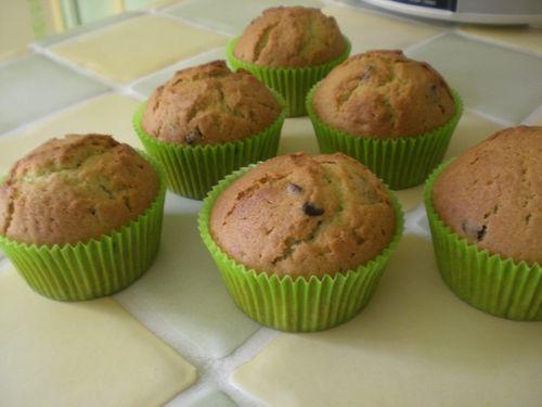 Muffins à la pistache et aux pépites de chocolat