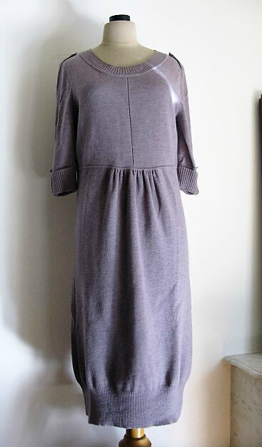 999d82085ee 2674  DIANE Von FURSTENBERG Robe en laine grise Taille 38 40 - Les ...