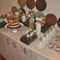 Fête couleur marron crème thème lait chocolat