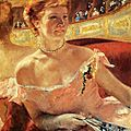 IMPRESSIONISME 1879_Lydia dans une loge_Mary Cassatt