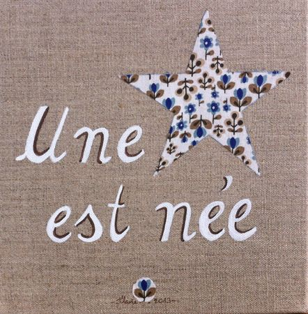 étoile blanche et bleu
