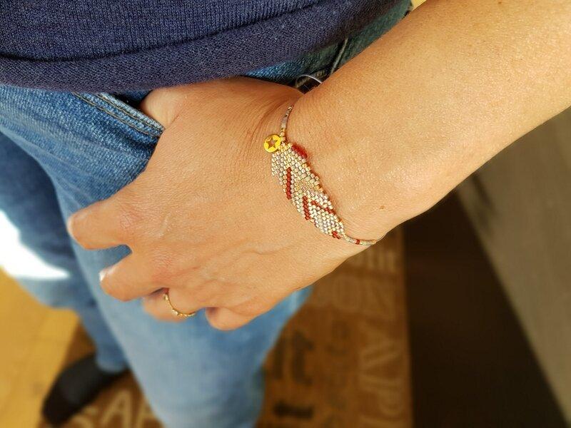 5-bracelet plume for me