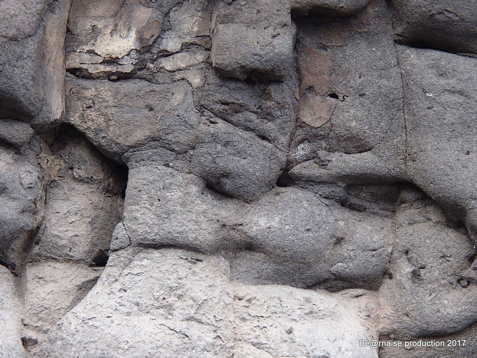 Roche volcanique (Los Concajos, La Palma, août 2017)