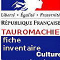 TAUROMACHIE FICHE INVENTAIRE PATRIMOINE CULTUREL