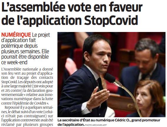 2020 05 28 SO L'assemblée vote en faveur de l'application StopCovid