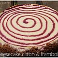 Cheesecake citron & framboise
