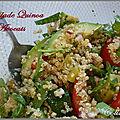 Salade de quinoa a l'avocat