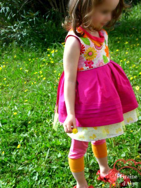 ensemble sunday rose-orange porté 4