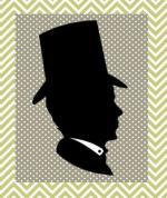 silhouette homme chapeau fd pois