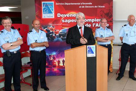 SDIS 02 DEPART MAJOR CHAUDERLOT COLONEL FAGLAIN 2012 autorités