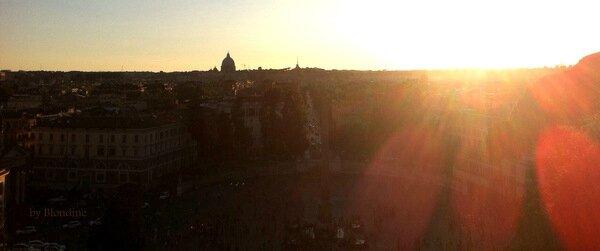 coucher de soleil au Pincio