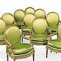 Suite de huit fauteuils en hêtre d'époque louis xvi, estampillée g. iacob - sotheby's