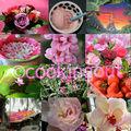 Mosaïque rose, fruit& flowers pour le plaisir