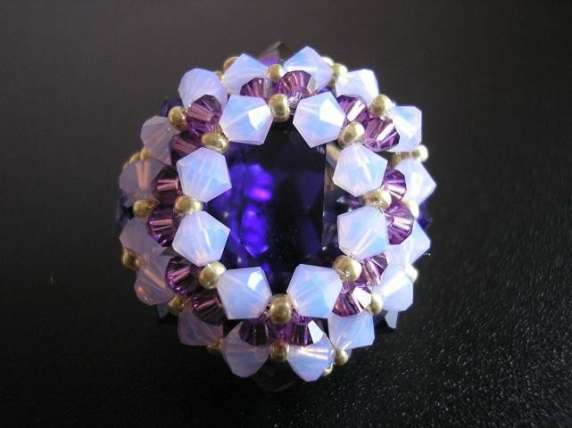 Bague michelle purple velvet