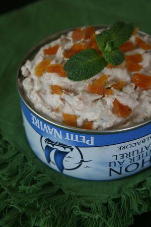 Rillettes de thon à a menthe et abricot séché 1