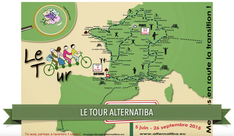 tour Alternatiba vélo tandem 2015 carte