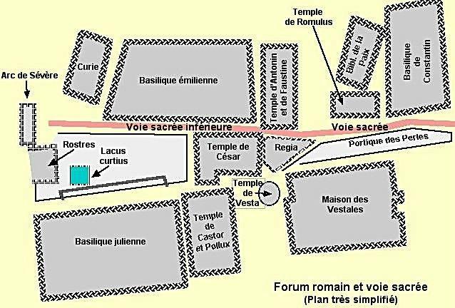 33978af178838a Le Forum Romain Partie 1 (Via Sacra Inférieure) - Junior Association ...