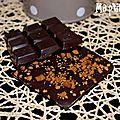 Tablette de chocolat aux pépites de spéculoos {panier gourmand}