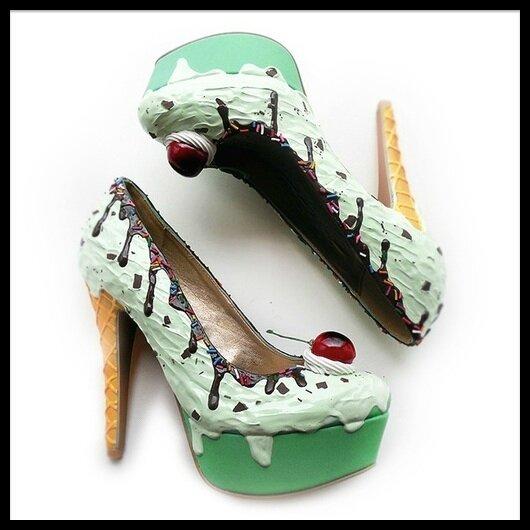 Shoe Bakery Ice Cream Collection Mint Ice Cream Heels
