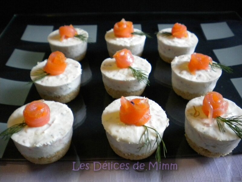 Mini cheesecakes au saumon fumé 3