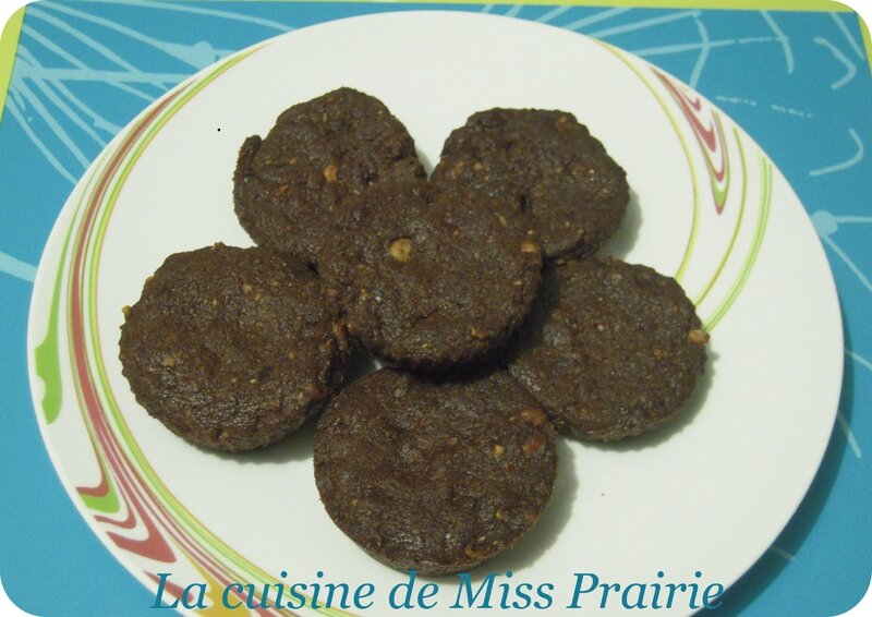 Biscuits chocolat-noisettes