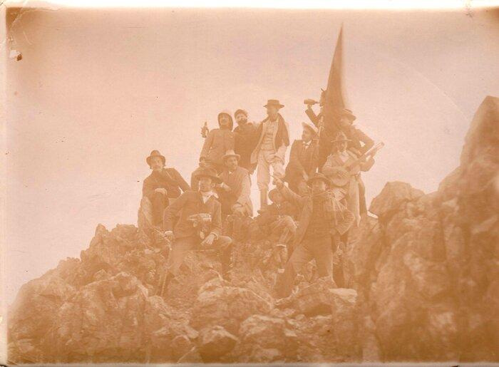 grupo en la Curuba del Cerro de Potosi - febrero 1904