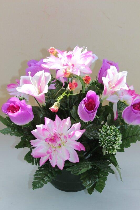 fleurs artificielles cimetière 117