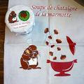 Swap chataîgnes, colis envoyé à Arianne / La marmotte