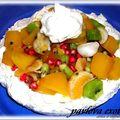 Pavlova aux fruits exotiques