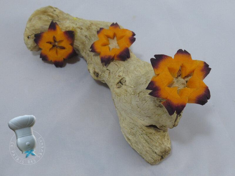 Fleur sur carotte violette #2