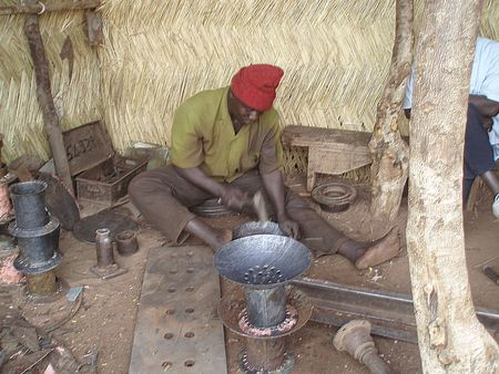 Atelier d'artisan ferrailleur MOPTI Mali