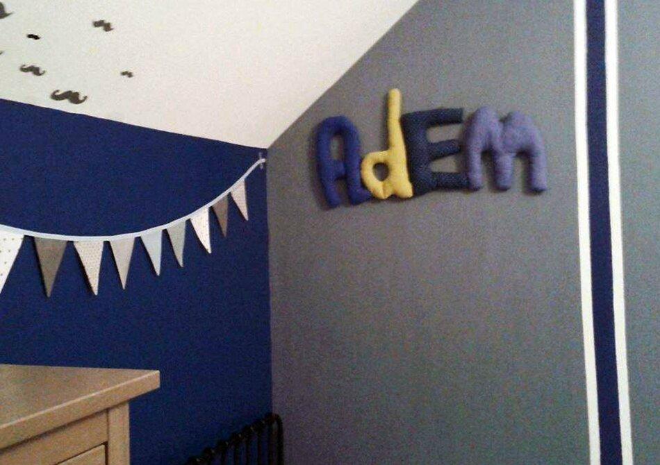 adem,prenom decoratif,poc a poc,decoration de chambre,decoration murale,chambre enfant 1
