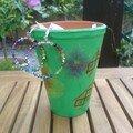 Pot pour la fête de Papou et boucles d'oreilles
