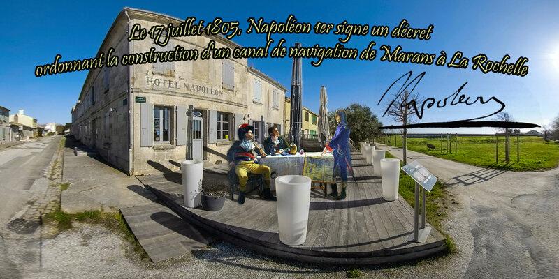 Le 17 juillet 1805, Napoléon 1er signe un décret ordonnant la construction d'un canal de navigation de Marans à La Rochelle