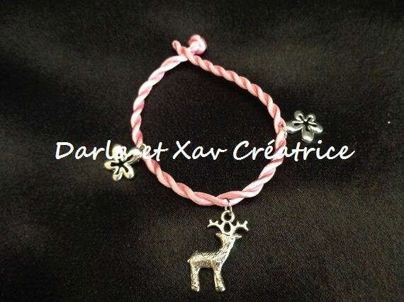 Bracelet Rose Fleur