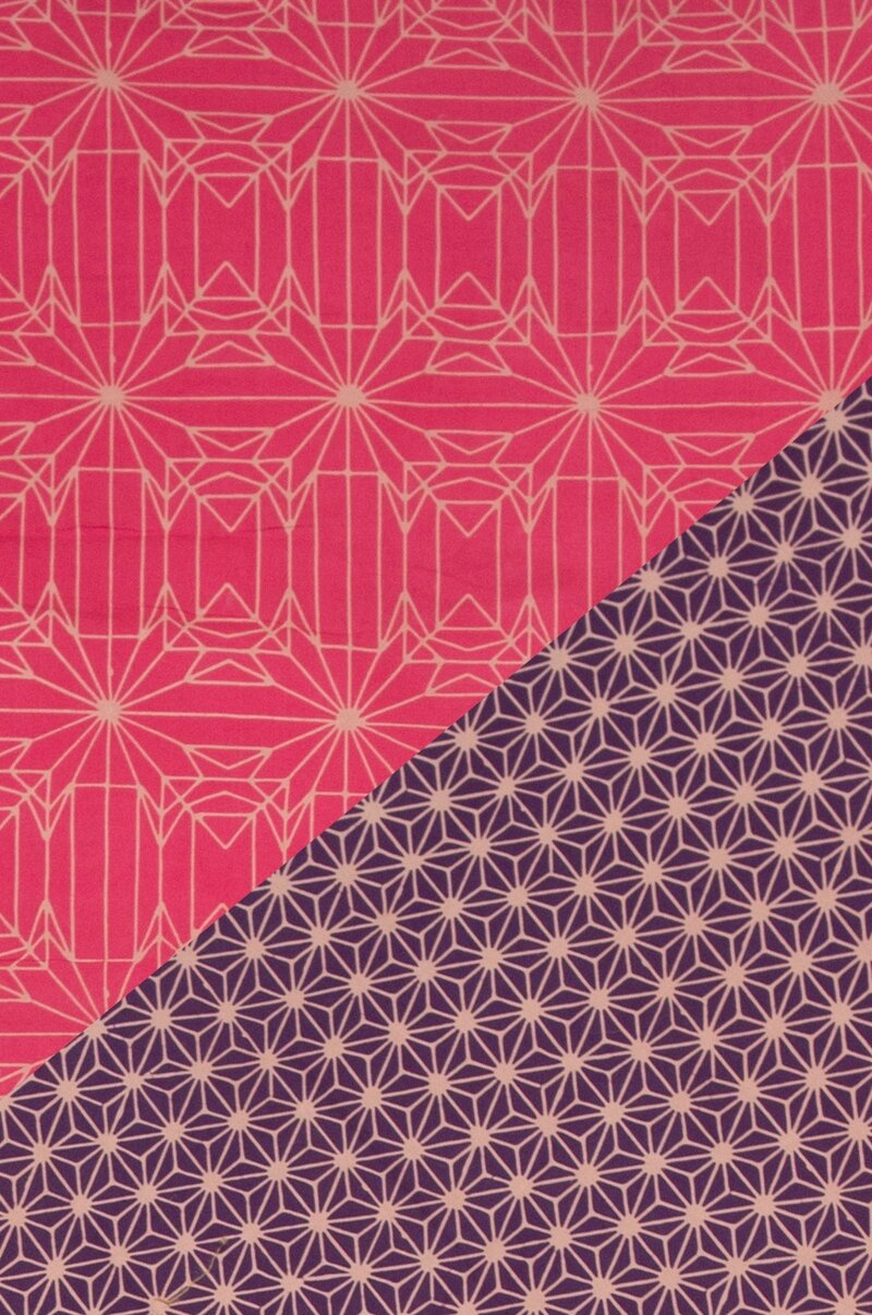 détail plaid cristal rose